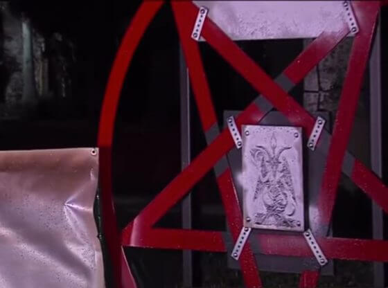 the defaced satanic pentagram.